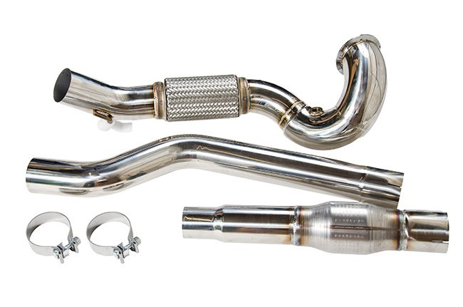 cts turbo mk7 golf r 8v audi s3 downpipe catted cts exh. Black Bedroom Furniture Sets. Home Design Ideas