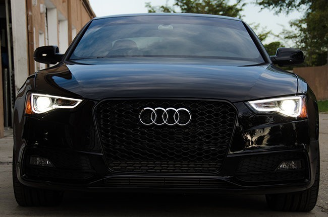 rs5 blackout mesh style grille audi b8 5 a5 s5 2013. Black Bedroom Furniture Sets. Home Design Ideas