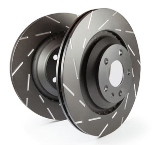 EBC Brakes USR Black Dash Series Rear Sport Slotted Rotor - 10.1""