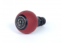 BFI Heavy Weight Shift Knob SCHWARZ - Magma Red Air Leather