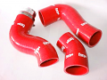 Forge Silicone Boost Hoses for the Audi TTS - Red