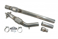"USP 3"" Stainless Steel 2.0T FSI/TSI Downpipe- Catted"