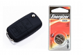 Silicone Key Fob Jelly w/ Battery (Black) - 2032
