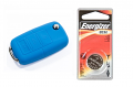 Silicone Key Fob Jelly w/ Battery (Blue) - 2032