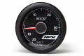 APR Universal Electronic Boost Gauge- Red Needle, White Face