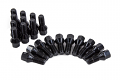 Conical Seat Wheel Bolt Black - 14x1.5x 27mm Length - 20 Pack