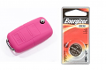 Silicone Key Fob Jelly w/ Battery (Pink) - 2032