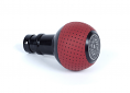 BFI Heavy Weight Shift Knob SCHWARZ - Magma Red Air Leather (VW/Audi DSG & Automatic)