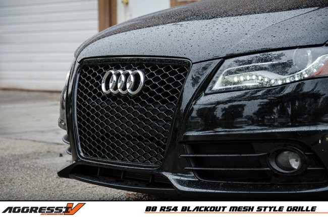 RS4 Blackout Mesh Style Grille: Audi B8 A4/S4 (09-2012 ...