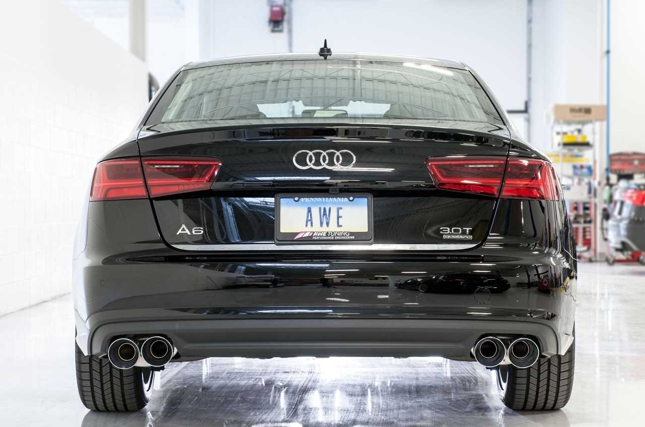 Awe Tuning Audi C7 5 A6 3 0t Touring Edition Exhaust Quad Outlet Chrome Silver Tips 3015 42072 8333