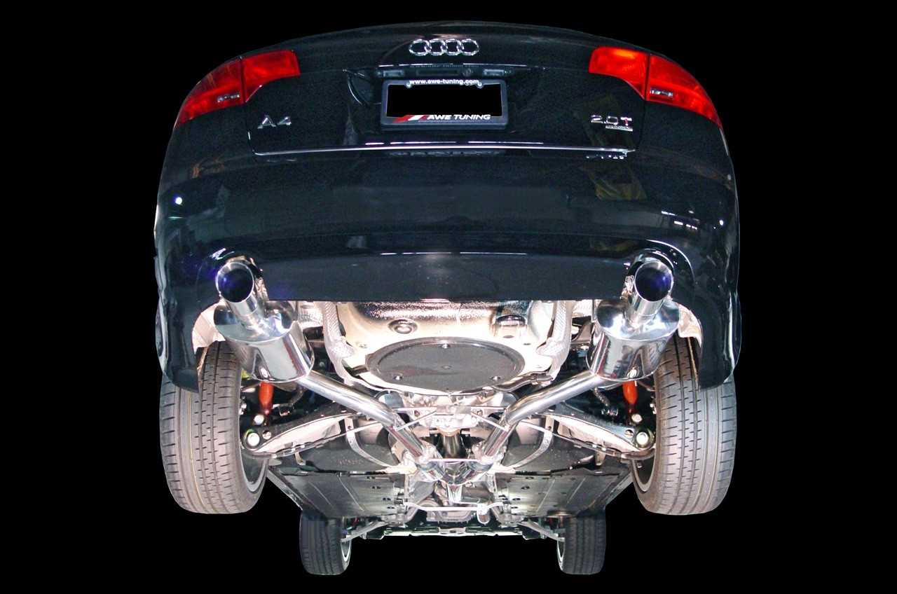 Awe Tuning B7 A4 2 0t Quattro Dual Tip Performance Exhaust Polished Silver Tips 3045 32010 8451