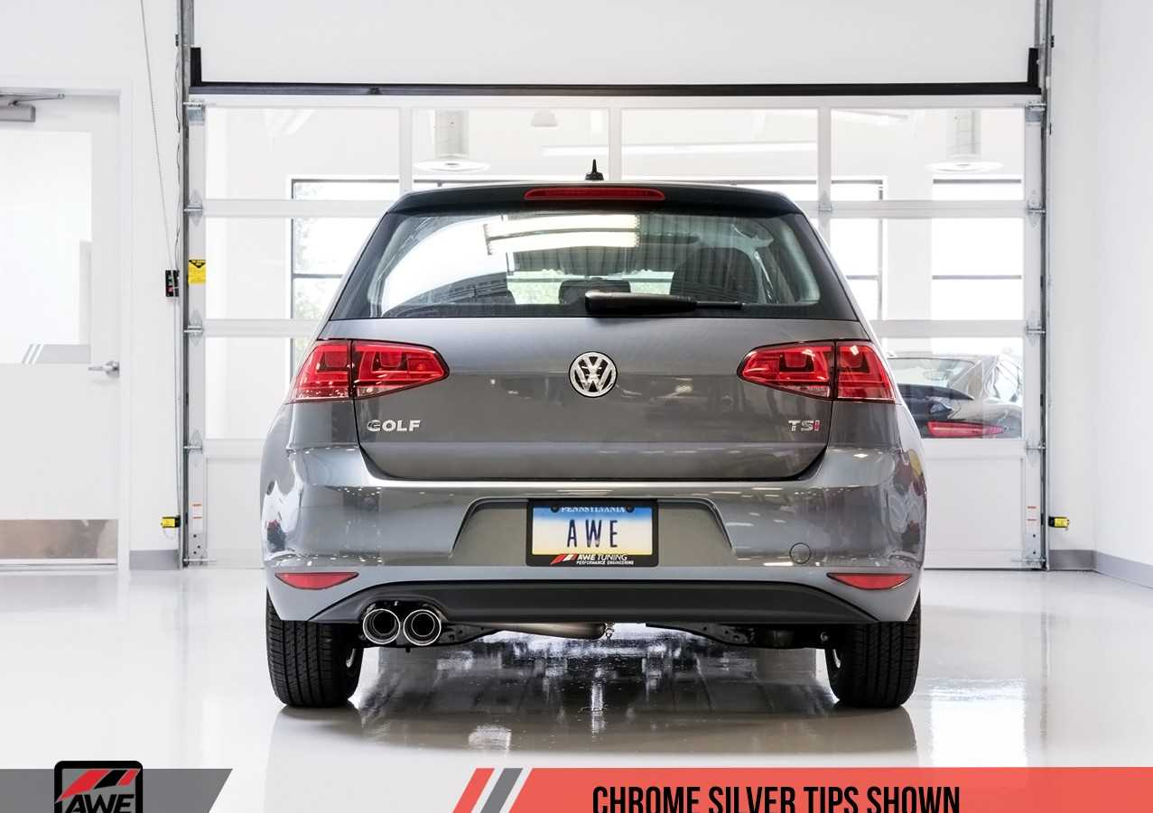awe tuning vw mk7 golf 1 8t track edition exhaust with. Black Bedroom Furniture Sets. Home Design Ideas