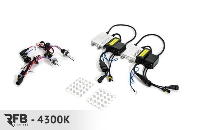 RFB HID Conversion Kit - 4300K (Pure White) For Audi B8 A4