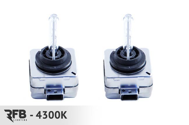 RFB HID Replacement Bulb Pair- 4300K (Pure White) For Audi A5