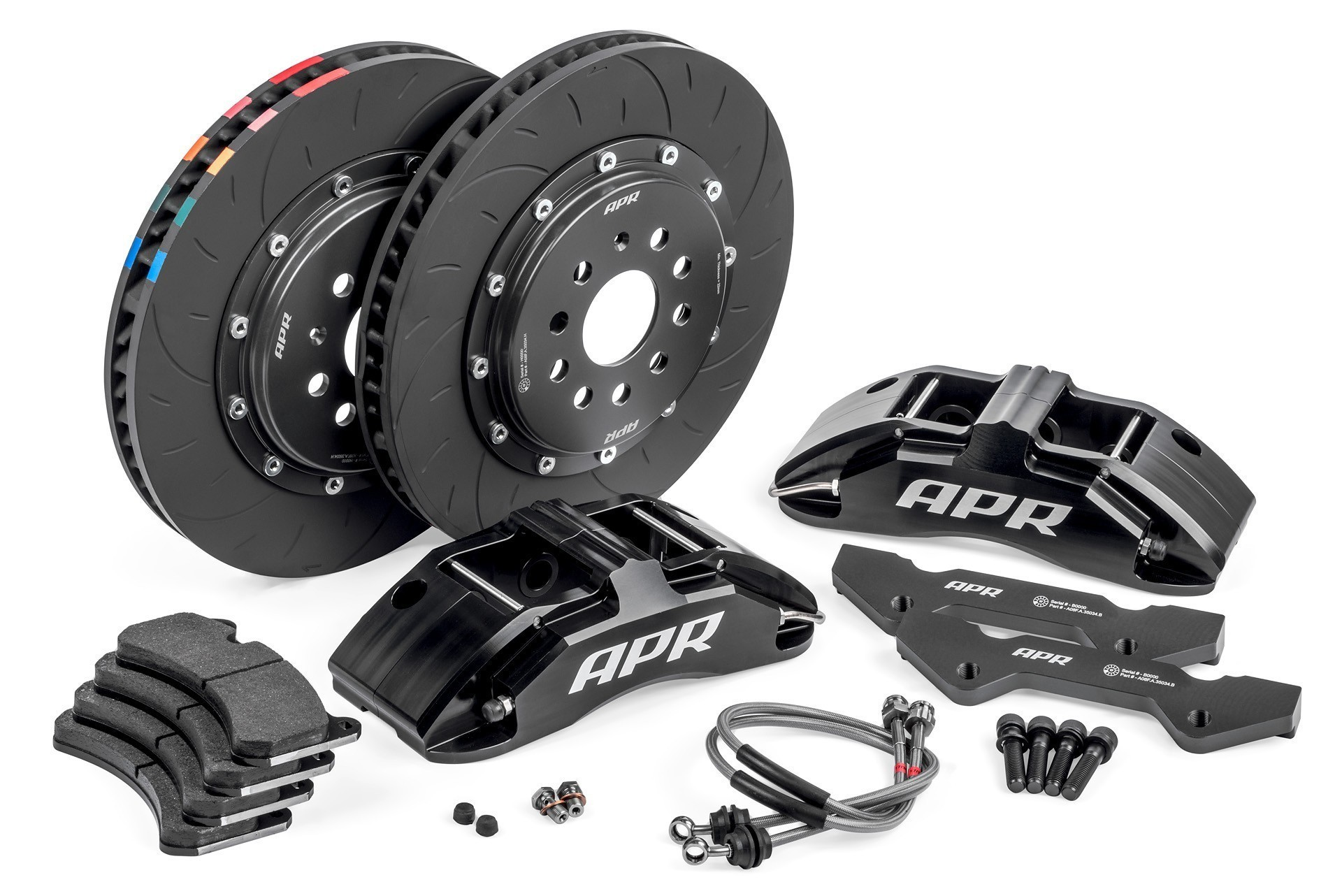 apr big brake kit for mk7 gti audi a3 mk3 tt black. Black Bedroom Furniture Sets. Home Design Ideas