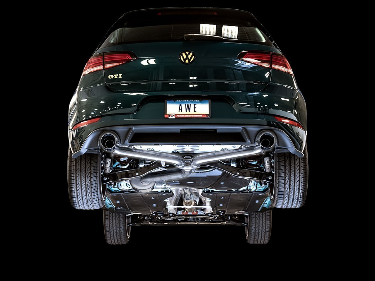 AWE Track Edition Exhaust For VW MK7.5 GTI - Chrome Silver Tips