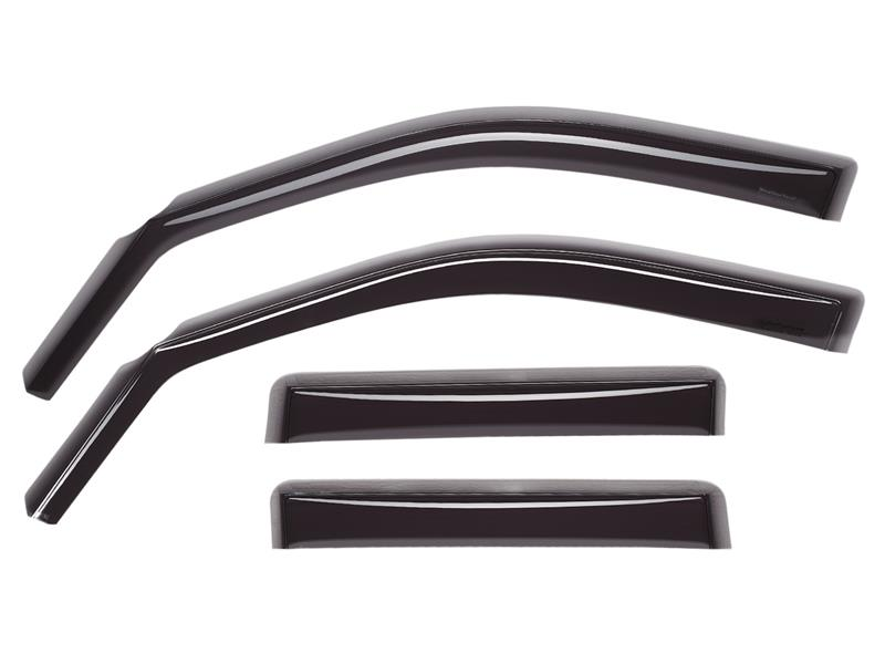 WeatherTech Front and Rear Window Deflectors (Dark Smoke) For Audi A6 / S6
