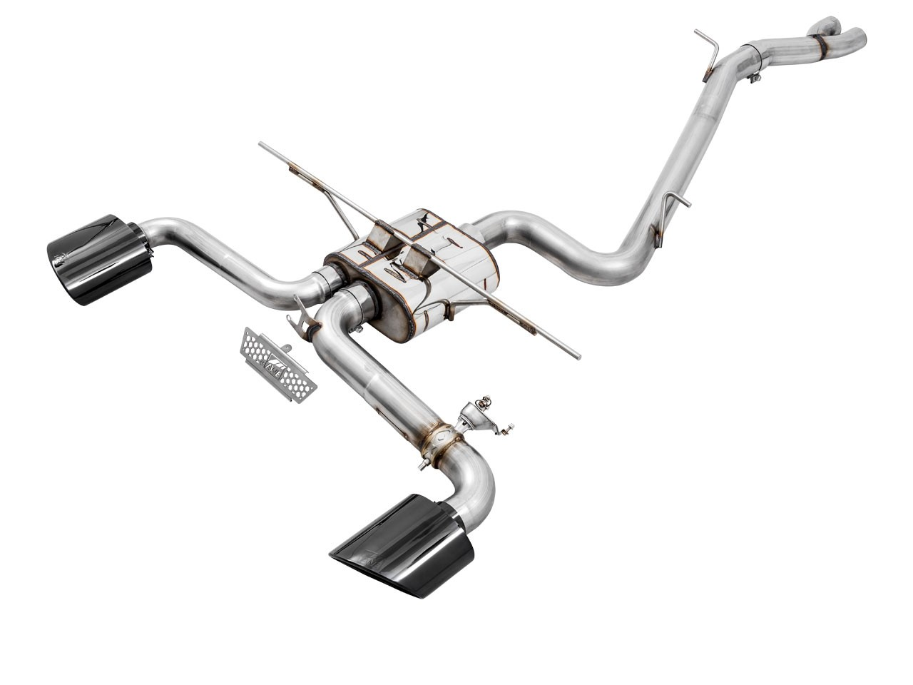 AWE SwitchPath Exhaust for Audi 8V RS 3 - Diamond Black RS-style Tips