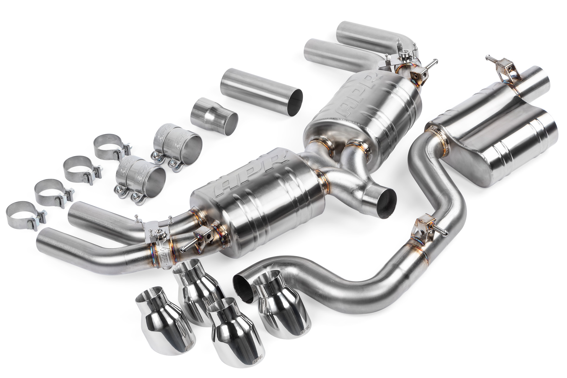 APR Catback Resonated Exhaust System For VW MK7 Golf R