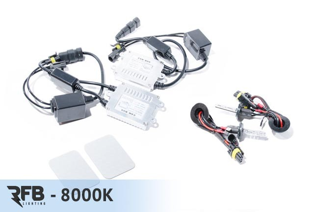 RFB H3 HID Conversion Kit with CAN-BUS Ballasts - 8000K