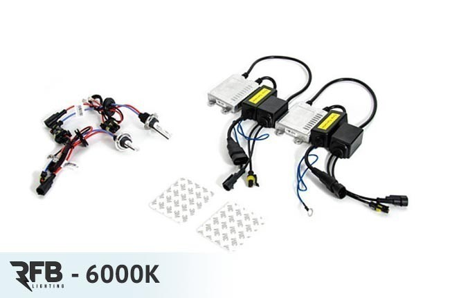 RFB HID Conversion Kit - 6000K (Diamond White) For MK6 Jetta/GLI