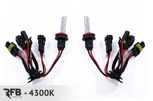 rfb h11 replacement hid bulb pair 4300k pure white. Black Bedroom Furniture Sets. Home Design Ideas