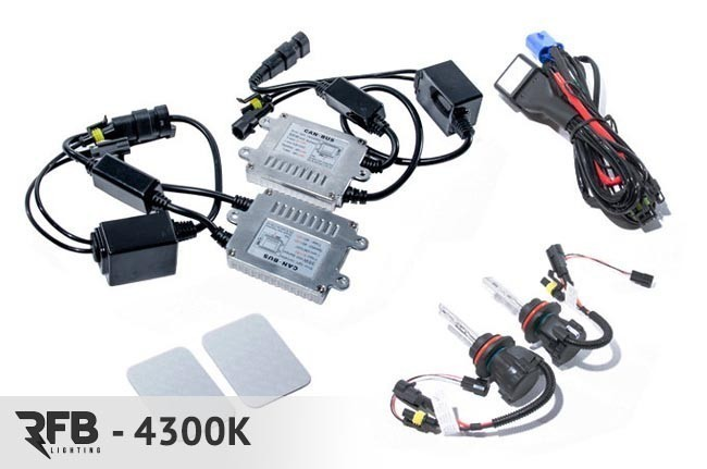 RFB HID Conversion Kit with CAN-BUS Ballasts 4300K (Pure White) For 9007