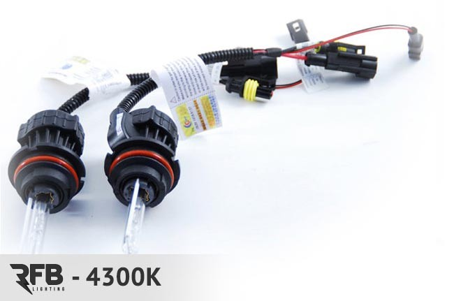RFB Replacement HID Bulb Pair 4300K (Pure White) For 9007