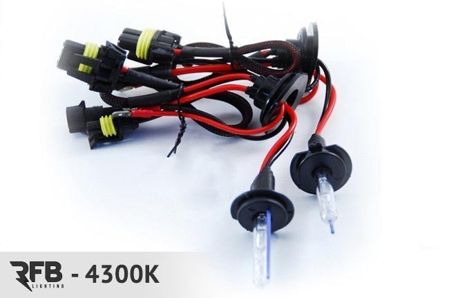 RFB Replacement HID Bulb Pair 4300K (Pure White) For H7