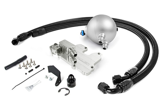 Spulen Billet Spherical Catch Can Kit V2 Silver For 1.8T and 2.0TSI