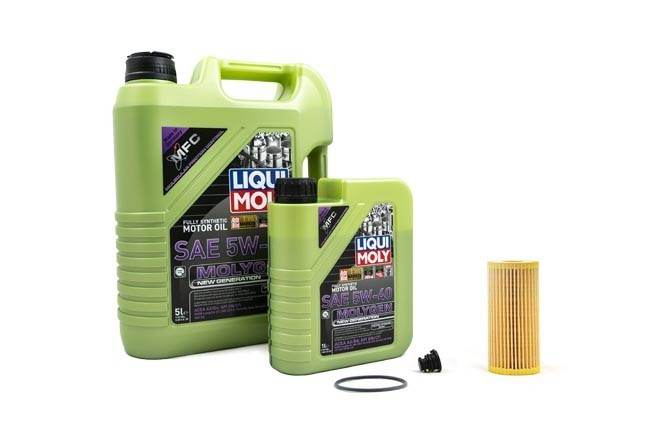 Liqui Moly Molygen 5W/40 Oil Service Kit For Audi 8V A3/S3