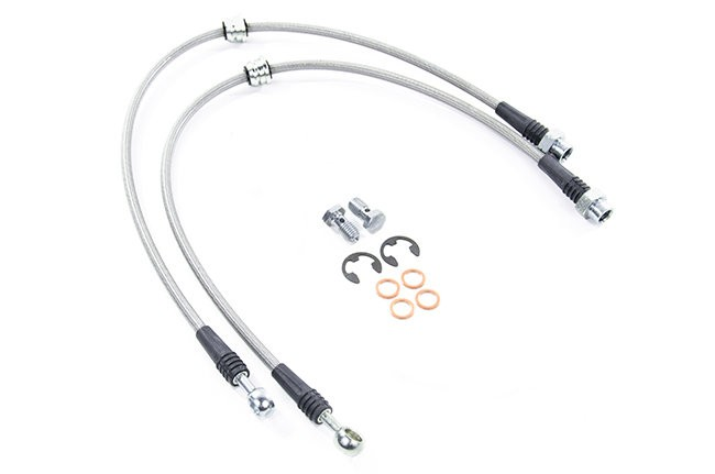 Replacement Steel Brake Lines : Usp stainless steel brake line single replacement vk