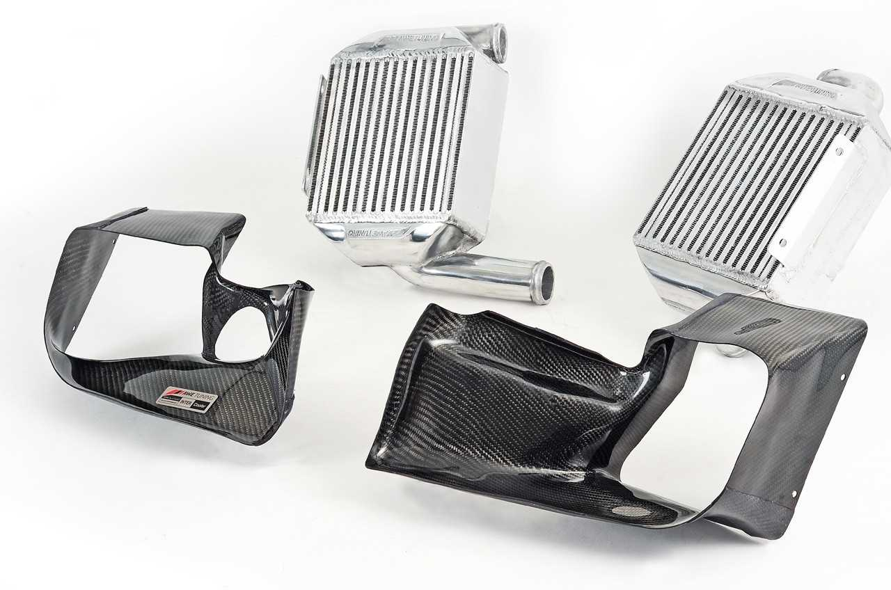 AWE Tuning Performance Intercooler Kit - With Carbon Fiber Shrouds For Audi 2.7T
