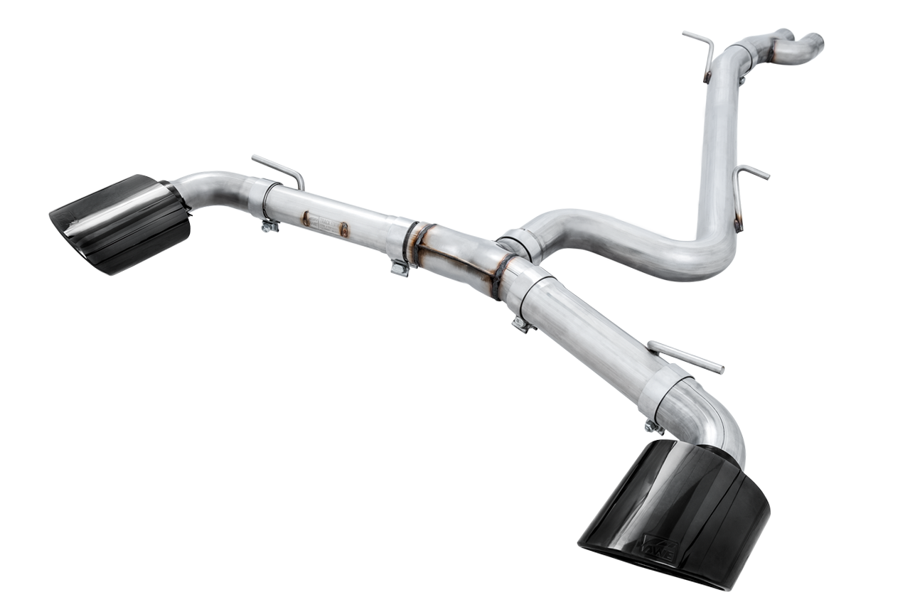 AWE Track Edition Exhaust for Audi 8V RS3 - Diamond Black RS-style Tips