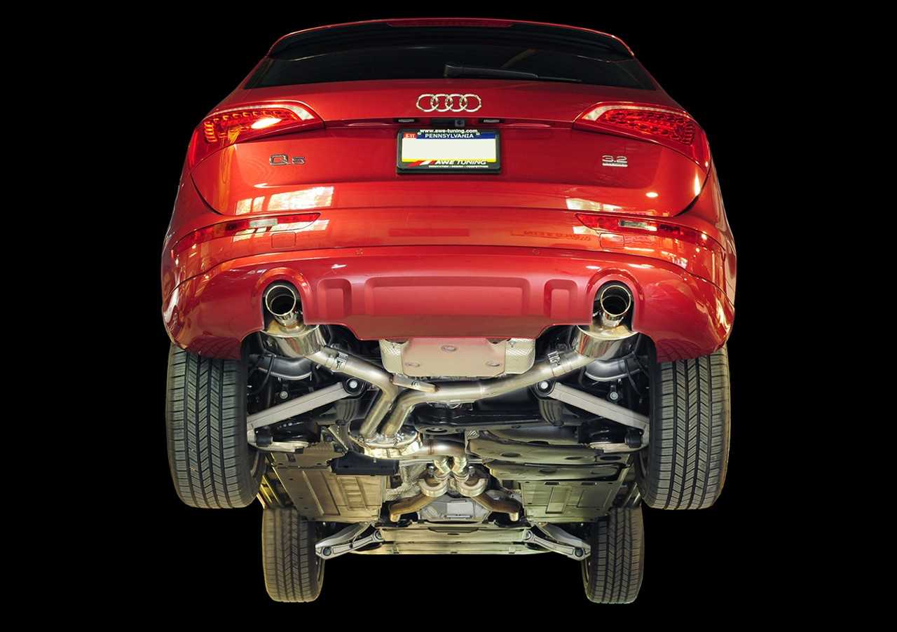 AWE Tuning Q5 3.2L Non-Resonated Exhaust System (Downpipe-Back) - Diamond Black Tips