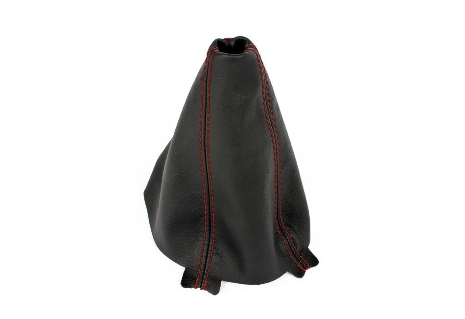 Manual Shift Boot - Leather, Red Stitching For BFI B6/B7