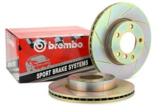 Brembo Sport Slotted Rotors Rear For VW/Audi