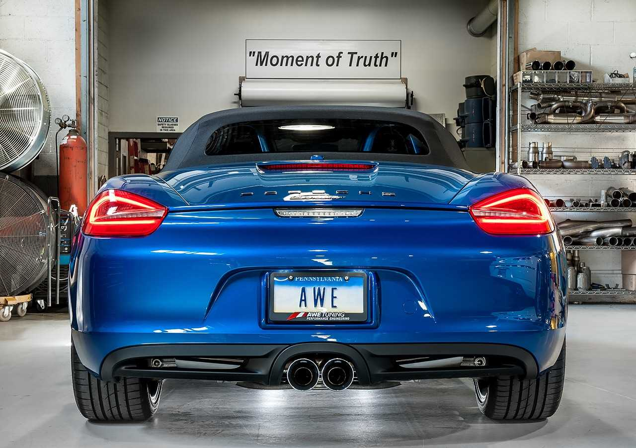 Awe Tuning Porsche 981 Performance Exhaust System With Chrome Engine Diagram Silver Tips For