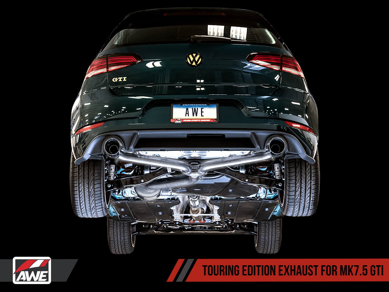 AWE Touring Edition Exhaust For VW MK7.5 GTI - Diamond Black Tips