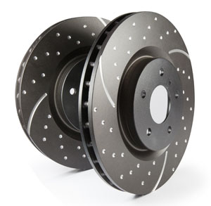 EBC Brakes Rear GD Sport Slotted and Dimpled Rotor - 10.7""
