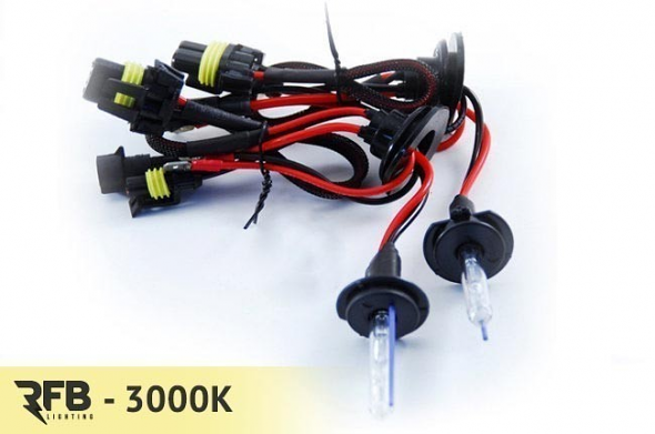 RFB H8 Replacement HID Bulb Pair - 3000K (Rally Yellow)