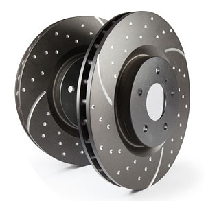 """EBC Brakes Rear GD Sport Slotted and Dimpled Rotor - 9.6"""""""