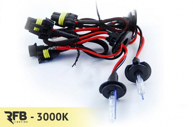 RFB 9006 Replacement HID Bulb Pair - 3000K (Rally Yellow)