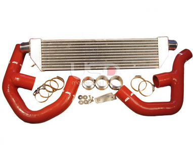 "Forge Front Mount ""Twintercooler"" Kit Red Hoses For 2.0T"