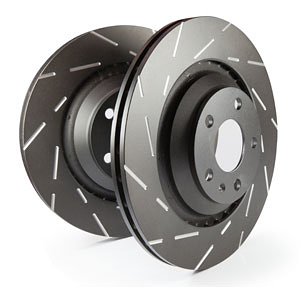 EBC Brakes USR Black Dash Series Rear Sport Slotted Rotor - 10.7""