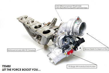 TTE480 Upgrade Performance Turbocharger VAG For 2.0 TFSI