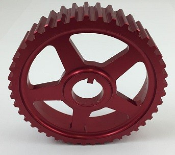 Autotech Lightweight Intermediate Shaft Pulley Red