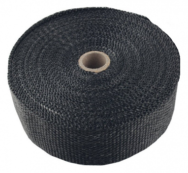 "Torque Solution Exhaust Wrap (Black Fiberglass): Universal 1"" x 50'"