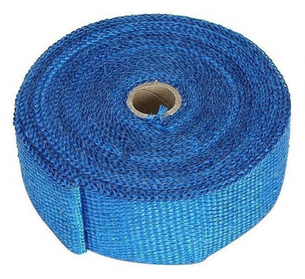 "Torque Solution Exhaust Wrap (Blue Fiberglass): Universal 2"" x 100'"