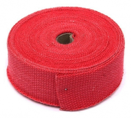 "Torque Solution Exhaust Wrap (Red Fiberglass): Universal 2"" x 25'"